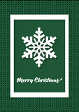 Cartolina d'auguri di Buon Natale Fotografie Stock Libere da Diritti