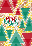 Cartolina d'auguri di Buon Natale, stampa, manifesto, decorazione di inverno, Fotografia Stock Libera da Diritti