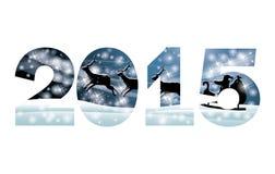 Cartolina d'auguri di 2015 buoni anni Fotografia Stock Libera da Diritti
