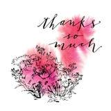 Cartolina d'auguri di calligrafia Fotografia Stock