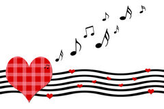 Cartolina d'auguri di canzone di amore, illustrazione di stock