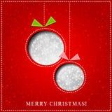 Cartolina d'auguri di carta di Buon Natale di vettore illustrazione vettoriale