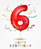 Cartolina d'auguri di celebrazione di buon compleanno illustrazione vettoriale