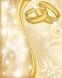 Cartolina d'auguri di cerimonia nuziale Fotografia Stock