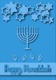 Cartolina d'auguri di Chanukah Fotografia Stock