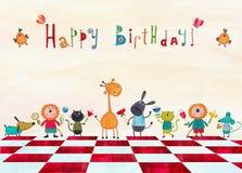 Cartolina d'auguri di compleanno Immagine Stock