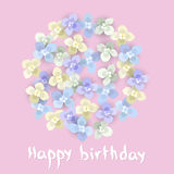 Cartolina d'auguri di compleanno Fotografie Stock