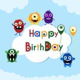 Cartolina d'auguri di compleanno illustrazione vettoriale