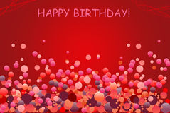 Cartolina d'auguri di compleanno con l'aerostato Fotografia Stock