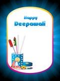 Cartolina d'auguri di concetto del contenitore di cracker per il diwali felice Fotografia Stock