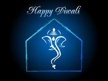Cartolina d'auguri di concetto di Ganpati per il diwali felice Fotografia Stock