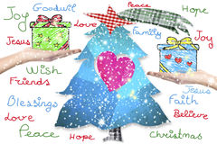Cartolina d'auguri di desideri di Natale Fotografia Stock Libera da Diritti