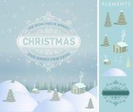 Cartolina d'auguri di desiderio di feste di Buon Natale ed annata Fotografie Stock Libere da Diritti