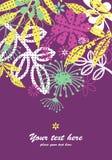 Cartolina d'auguri di disegno floreale Immagine Stock Libera da Diritti