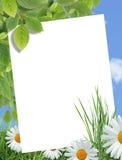 Cartolina d'auguri di ecologia immagine stock