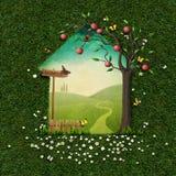 Cartolina d'auguri di estate Fotografia Stock Libera da Diritti