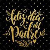 Cartolina d'auguri di Feliz Dia del Padre Father Day nello Spagnolo Fotografia Stock