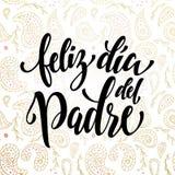 Cartolina d'auguri di Feliz Dia del Padre Father Day nello Spagnolo Immagine Stock