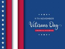Cartolina d'auguri di giornata dei veterani royalty illustrazione gratis