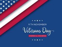Cartolina d'auguri di giornata dei veterani illustrazione vettoriale