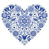 Cartolina d'auguri di giorno, di compleanno o di nozze progettazione di vettore del cuore, del ` pieghi scandinavi s del bigliett Immagini Stock