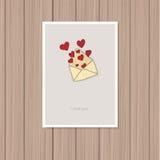 Cartolina d'auguri di giorno del biglietto di S Royalty Illustrazione gratis
