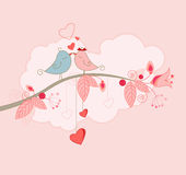 Cartolina d'auguri di giorno del biglietto di S. Valentino Immagine Stock