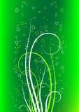 Cartolina d'auguri di giorno del biglietto di S. Valentino con cuore su priorità bassa verde Fotografia Stock Libera da Diritti