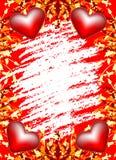 Cartolina d'auguri di giorno del biglietto di S. Valentino con i fiori e cuore sulla cartolina d'auguri illustrazione vettoriale