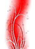 Cartolina d'auguri di giorno del biglietto di S. Valentino con il cuore del rotolo sulla parte posteriore dell'estratto Fotografia Stock Libera da Diritti