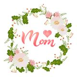 Cartolina d'auguri di giorno del ` s della madre Fotografie Stock Libere da Diritti