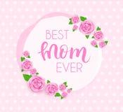 Cartolina d'auguri di giorno del ` s della madre illustrazione vettoriale