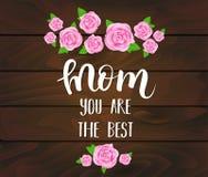 Cartolina d'auguri di giorno del ` s della madre royalty illustrazione gratis