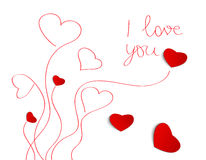 Cartolina d'auguri di giorno di biglietti di S. Valentino Fotografie Stock Libere da Diritti