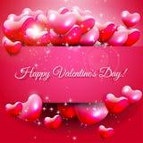 Cartolina d'auguri di giorno di biglietti di S. Valentino Fotografia Stock Libera da Diritti