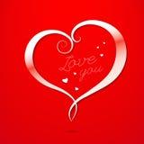 Cartolina d'auguri di giorno di biglietti di S. Valentino di amore Fotografia Stock Libera da Diritti