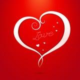 Cartolina d'auguri di giorno di biglietti di S. Valentino di amore Fotografia Stock