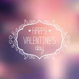 Cartolina d'auguri di giorno di biglietti di S. Valentino di vettore Fotografie Stock Libere da Diritti