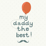 Cartolina d'auguri di giorno di padre Fotografia Stock