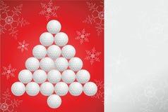 Cartolina d'auguri di golf fatta di carta Immagine Stock