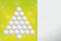 Cartolina d'auguri di golf fatta di carta Fotografia Stock