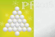 Cartolina d'auguri di golf fatta di carta Fotografia Stock Libera da Diritti