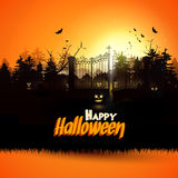 Cartolina d'auguri di Halloween Immagine Stock