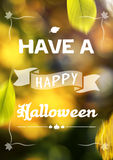 Cartolina d'auguri di Halloween Immagine Stock Libera da Diritti