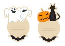 Cartolina d'auguri di Halloween Fotografia Stock