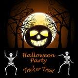Cartolina d'auguri di Halloween Immagini Stock