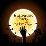 Cartolina d'auguri di Halloween Fotografie Stock
