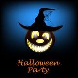 Cartolina d'auguri di Halloween Fotografia Stock Libera da Diritti