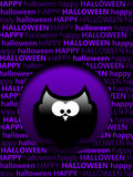Cartolina d'auguri di Halloween con i gufi del fumetto Fotografie Stock Libere da Diritti