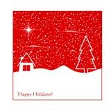 Cartolina d'auguri di inverno Fotografia Stock